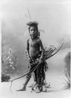 Pulls The Bow- Sioux boy