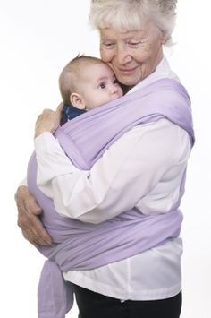 Baby wearing Grandma! Once a mother, always a mother!