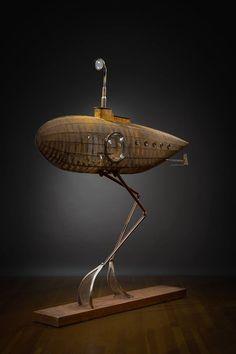 steampunktendencies: Salish Sojourner by Rick. Design Steampunk, Mode Steampunk, Steampunk Airship, Steampunk Lamp, Dieselpunk, Steampunk Fashion, Steam Art, Sculpture Metal, Steampunk Accessories