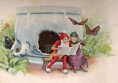 In het land der blonde duinen en niet heel ver van de zee, woonde eens een dwergenpaartje en dat heette Piggelmee.