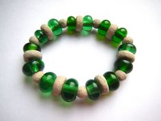 Recycled Sea Glass and Locally sourced Clay Beads Lauren Gunning Jewellery