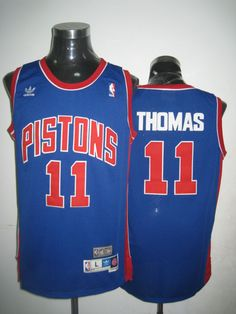 071eb965d Adidas NBA Detroit Pistons 11 Isiah Thomas Swingman Throwback Blue Jersey