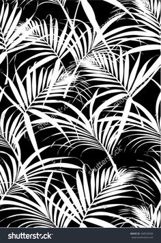 Vector Serigrafia Tropical leaves pattern in vector and black color. Vector Serigrafia Tropical leaves pattern in vector and black color. Motif Tropical, Tropical Pattern, Tropical Leaves, Vector Pattern, Pattern Art, Print Patterns, Black And White Flowers, Leaves Vector, Surface Pattern Design