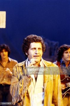 The singer Joe DASSIN performing on television between 1978 and 1980.