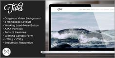 Tides - Fullscreen Video Single Page Template . Tides has features such as High Resolution: Yes, Compatible Browsers: IE8, IE9, IE10, Firefox, Safari, Opera, Chrome, Columns: 3