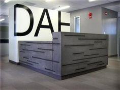 Concrete   \Welcome Desk, Drama Scale Company Letterhead Commercial/Oakland Project