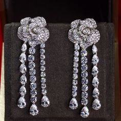 Zircon Earring JHZ-429 USD59.48, Click photo for shopping guide and discount