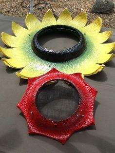 Recycled Tire Bird Feeders www.cooltireswings.com