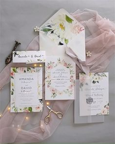 Faire-part mariage - invitation mariage - - romantic blush pink flower printed glittery frame wedding invitations Elegant Wedding Invitations, Wedding Invitation Video, Wedding Invitation Card Design, Printable Wedding Invitations, Diy Invitations, Wedding Stationery, Wedding Invitation Inspiration, Invitation Templates, Wedding Frames