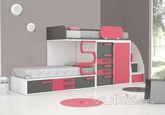 Room Design Bedroom, Kids Bedroom Designs, Bunk Bed Designs, Home Room Design, Small Room Bedroom, Kids Room Design, Bedroom Styles, Girls Bedroom, Bedroom Decor