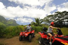 ATV tour of Moorea, French Polynesia........this would be a great activity to do when we go to Moorea!!!