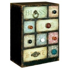 With Our Blessings Storage Drawers, Multi Coloured
