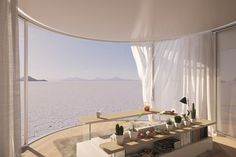 Gallery of Take in The Views With This Prefabricated Curved Glass Sliding Doors - 6