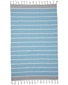 MAYDE Cottesloe Turkish Towel // Sky / Grey // AU$59.95 // www.mayde.com.au