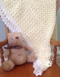 This is a very special handmade crochet baby blanket.  This baby afghan will make a wonderful baby shower gift.  This blanket would make a lovely addition to your baby nursery decor. Perfect also, for travel, strollers, prams, cribs, tummy time and photo props.