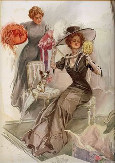 """The American Girl in France""  circa 1910"