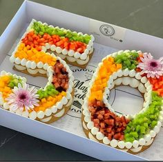 50 years old! Do you like fruits? This number cakes looks so fresh! - Tag a frien. : 50 years old! Do you like fruits? This number cakes looks so fresh! - Tag a friend who would love this! - S Cake iDeas ? Number Birthday Cakes, Number Cakes, 50th Birthday, Birthday Numbers, Friend Birthday, Birthday Ideas, Red Wine Gravy, 50th Cake, Flaky Pastry