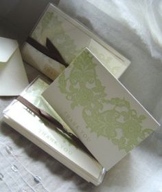 Lace Letterpress Thank You Cards