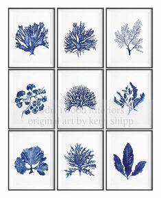 Praderas de hierbas marinas en dril de algodón de impresión 8