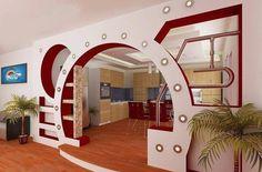Living Room Partition Design, Room Partition Designs, Bedroom False Ceiling Design, False Ceiling Living Room, Home Entrance Decor, House Entrance, House Arch Design, Wall Design, Wc Decoration