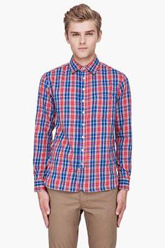 Rag & Bone Red Plaid Flannel Shirt for Men | SSENSE