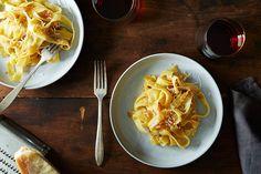 James Beard's Braised Onion Pasta / I'll use chicken stock to deglaze
