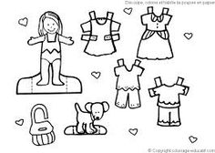 Dress coloring pages 123 paper dolls Pinterest Kids