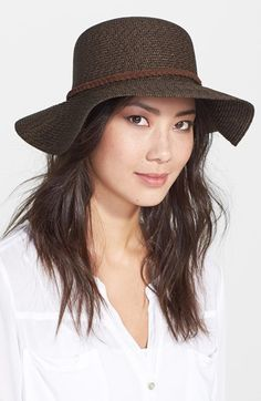 fe11ae29b81c9f Nordstrom Straw Floppy Hat available at #Nordstrom Braided Leather, Fashion  Killa, Fashion Pictures