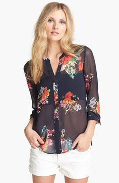 Joie 'Devitri' Silk Shirt available at #Nordstrom