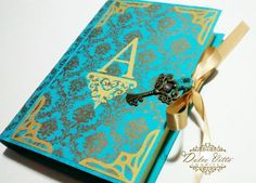 Convite de debutante azul tiffany com chave criativo, festa 15 anos idéias