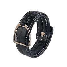 Leather bracelet with stirrup – BLACK Equestrian, Black Leather, Belt, Bracelets, How To Wear, Accessories, Fashion, Belts, Moda