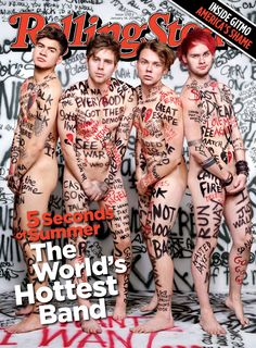 """Ok really funny story so my grandma saw this cover apparently and she told me """"Honey, you know that band 5 Degrees that you like? Well you can't like them anymore because of that NAKED Rolling Stones cover they posed for."""" So I got really defensive of them and she just said """"It's ok, you can like naked men, sweetie, if that's what you want."""" liKE IN ALL SERIOUSNESS I FREAKING LOVE MY GRANDMA"""