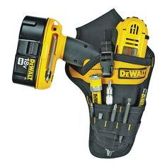 Belt Storage, Tool Storage, Drill Holder, Tool Belt Pouch, Garage Atelier, Dewalt Power Tools, Work Tools, Cordless Drill, Garage Workshop