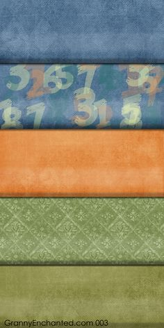Autumn Digital Scrapbook Paper with Back to School Numbers