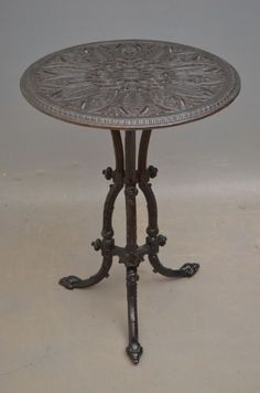 Cast Iron, It Cast, Iron Table, Antiques For Sale, Garden Table, Antique Photos, Custom Tables, Dining Table, Victorian