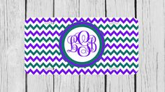 Personalized Monogrammed Chevron Emerald Green by TopCraftCase