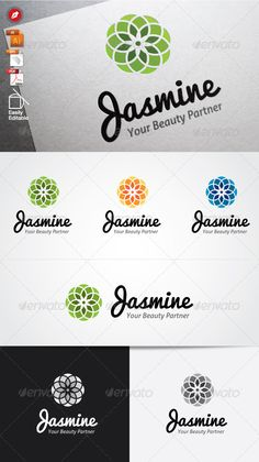 Jasmine Logo  #GraphicRiver        Highly made for those who need Illustrative, Trustworthy, Memorable,