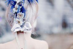 noeud de satin & fleurs