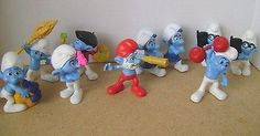 SMURFS Trolls Cake topper McDonalds meals PEYO FIGURES  Lot 10