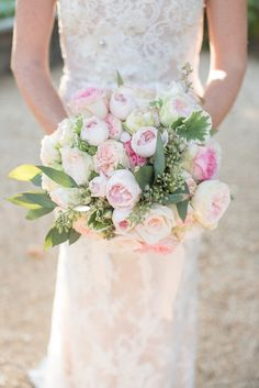 Peony and rose wedding bouquet: Photography: Rahel Menig Photography - www.rahelmenigphotography.com   Read More on SMP: http://www.stylemepretty.com/california-weddings/carmel-valley/2016/10/31//