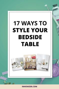 Here are 17 different ways to decorate your bedside table so it looks great while leaving space for the practical elements. Click to read and get inspired.
