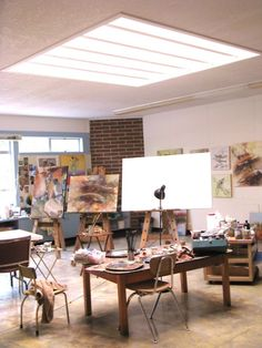 I love the light! I want this space to paint in.