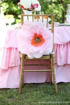 Oversized Tissue Paper Flowers - DIY Tutorial