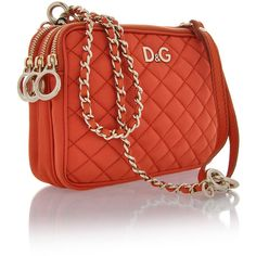 Dolce & Gabanna Lily Glam Orange Bag found on Polyvore