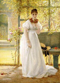 In The Walled Garden  ~ George Dunlop Leslie ~ (British, 1835-1921)
