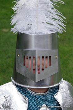 Knight Helmet DIY Halloween Costume | A fun costume and easy recycling craft!