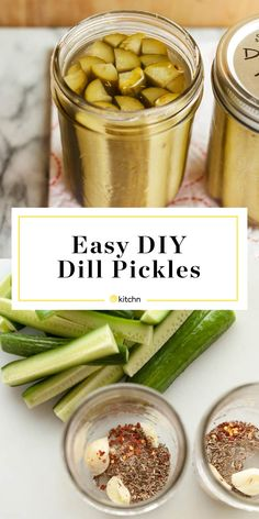 Cool, crunchy, and tangy — here& your detailed guide on how to make dill pickles from scratch! Making Dill Pickles, How To Make Pickles, Best Pickles, Canning Pickles, Homemade Pickles, Pickles Recipe, Refrigerator Pickles, Canning Recipes, Easy Canning