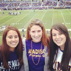 @JMU The Madison Society  JMU Traditions-FOOTBALL GAMES, Purple out!  Ashley Parrales, Senior