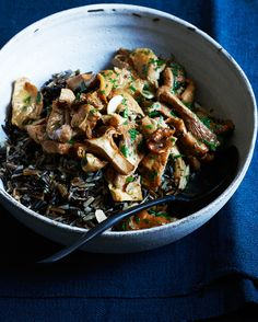 Wild Rice with Chanterelles and Parsley