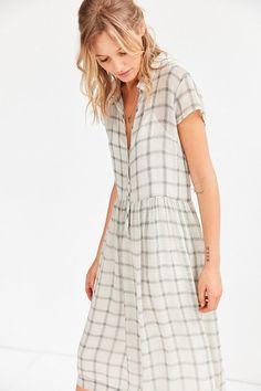 Cooperative Allie Sheer Midi Shirt Dress